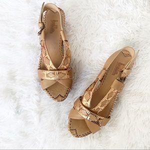 Belle by Sigerson Morrison Woven Metallic Sandals